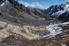 Route au Thibet Images libres de droits