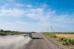 Route au Turkménistan images libres de droits