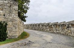 Route au vieux château Image libre de droits
