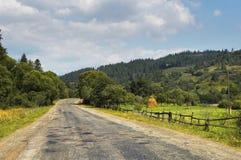 Route au village Image stock