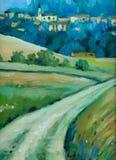Route au village. Images libres de droits