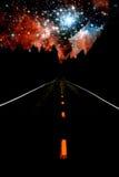 Route aux étoiles Photographie stock libre de droits