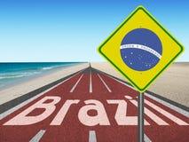 Route aux Jeux Olympiques du Brésil à Rio Photos libres de droits