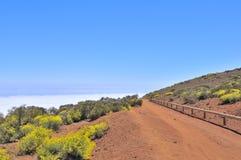 Route aux nuages Photo stock