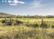 Route aux sites agricoles image stock