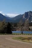 Route avant de lac Photo libre de droits