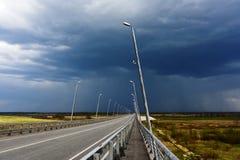 Route avant la tempête Photo stock