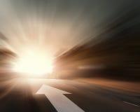 Route avec la flèche Images libres de droits