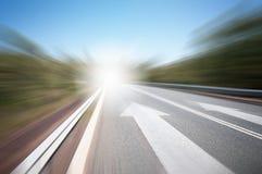 Route avec la flèche Photos libres de droits
