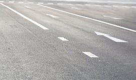 Route avec la flèche Image libre de droits