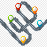 Route avec la marque ou le Pin Pointer d'emplacement Vecteur Image stock