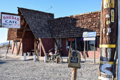 Route 66, Bagdad Cafe, Newberry Springs. NEWBERRY SPRINGS, CA, USA - MARCH 19, 2016: The famous Bagdad Cafe at Newberry Springs, Route 66, California, known from Royalty Free Stock Photos