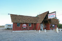 Route 66, Bagdad Cafe, Newberry Springs. NEWBERRY SPRINGS, CA, USA - MARCH 20, 2016: The famous Bagdad Cafe at Newberry Springs, Route 66, California, known from Royalty Free Stock Photography