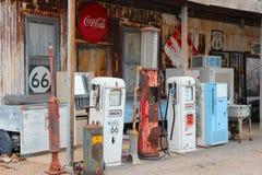 Route 66 bensinstation Arkivbilder