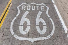 Route 66 -Bestrating royalty-vrije stock foto's