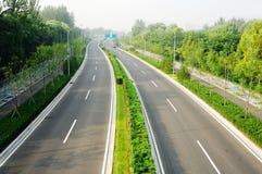route bi-directionnelle Images libres de droits