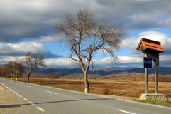 Route, bienvenue Photo stock