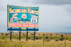 Route 66 Billboard Tucumcari Tonite! Royalty Free Stock Image