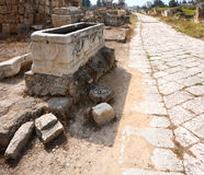 Route bizantine, pneu, Liban Image stock