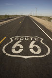 Route 66 Black Asphault Two Lane Historical Highway Royalty Free Stock Images
