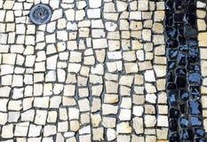 Route blanche de brique Photo libre de droits