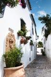 Route blanche espagnole de village Photos libres de droits