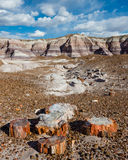 Route 66: Blue Mesa, Painted Desert, AZ Royalty Free Stock Images