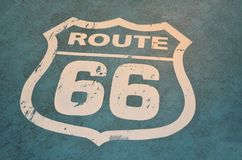 66 route on blue Stock Images