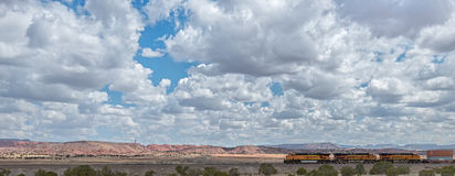 Route 66: A BNSF Train, Thoreau, NM stock photo
