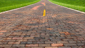Route 66 : Brique 66 (Route 66), auburn, IL photos stock