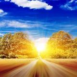 Route brouillée Photographie stock libre de droits