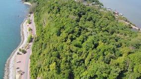 Route côtière à la partie scénique de point de colline de Nang Phaya de 2 banque de vidéos