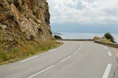 Route côtière corse Photographie stock