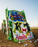 Route 66: Cadillac-Ranch, Amarillo, TX Stockfoto