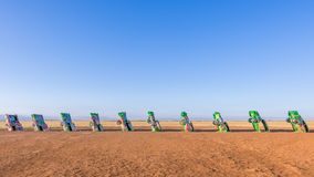 Route 66: Cadillac Ranch, Amarillo, TX Stock Photography