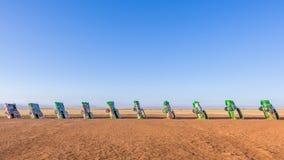 Route 66: Cadillac Ranch, Amarillo, TX Stock Photography