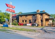 Route 66 : Café de roche, Stroud, OK images libres de droits