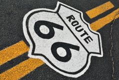 Route 66 in California, USA. The mythical Route 66 sign in California, USA royalty free stock image