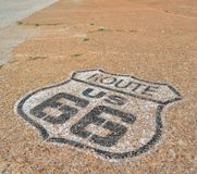 Route 66 in California, USA. The mythical Route 66 sign in California, USA royalty free stock photography