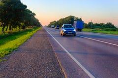 Route Caucase pendant le matin Photos libres de droits