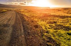Route cependant Wesfjords Images libres de droits