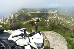 Route Ceyreste motorcycle mountain road Royalty Free Stock Photo