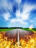 Route chaude Images libres de droits