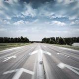 Route, chemin, tâchant à quelque chose Photos libres de droits