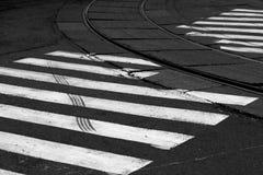 Route croisée photographie stock