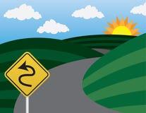 Route Curvy illustration stock