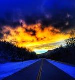 Route déprimée Photographie stock