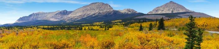 Route d'or à la montagne photo stock