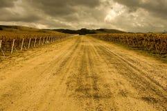 Route d'établissement vinicole image stock