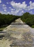Route d'île avec des nuages Photo libre de droits